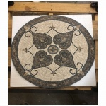 "Brisbon 24"" nonpolished Mosaic Floor Medallion"