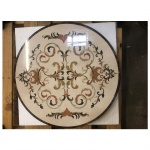 "Grace, 24"" Waterjet Stone Floor Medallion"