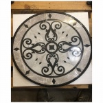24' Kristine II Carrara waterjet medallion
