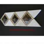 "3D Travertine Marble - Tile Border 4"" x 12"""