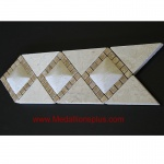 "3D Light Marble Travertine - Tile Border 4"" x 12"""