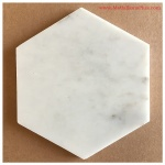 Carrara Marble Honed Hexagon Tiles, 6""