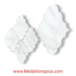 Carrara Marble Waterjet Cut Tile - Design 34