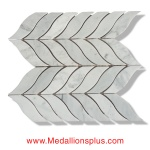 Fishtail - Carrara Marble Polished Mosaic Tiles