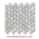 Leaves - Carrara Marble Polished Mosaic Tiles