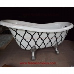 Amazing! Claw Foot Bathtub - Glass Mosaics
