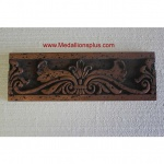 "Old World - Copper-Bronze Resin Border, 4"" x 12"""