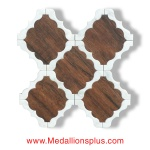 Waterjet Tile - Design 30 Marble - Wood Porcelain B