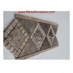 "3D Dark Emperador Honed- Tile Border 5"" x 12"""