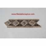 "3D Dark Emperador Honed- Tile Border 4"" x 12"""