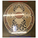 "Monte Carlo, 36"" x 48"" Oval Mosaic Floor Medallion, Honed"