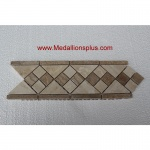 "Travertine and Marble Diamond- Tile Border 4"" x 12"""