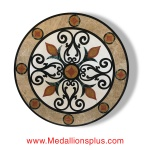 "Tinsley, 60"" Waterjet Medallion"