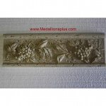 "Vines - Travertine Resin Border, 4"" x 12"""