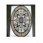 "Kristine II, 36"" x 60"" Oval Mosaic Floor Medallion, honed"