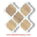 Waterjet Tile - Design 30 Marble - Wood Porcelain C