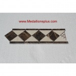 "Dark Emperador Polish- Tile Border 4"" x 12"""