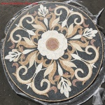 "MARSEILLE II, 52.34"" Mosaic Floor Medallion - Honed"