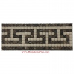 "Ethan, Honed Mosaic Tile Listello 5.25""x14.25"""