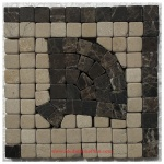"Harbor (brown), Honed Mosaic Tile Listello Corner 4"" x 4"""