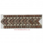 "Evrett, Honed Mosaic Tile Listello 4"" x 12"""