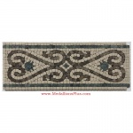 "Parker, Honed Mosaic Tile Listello 6.25""x15.75"""