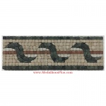 "Michael, Honed Mosaic Tile Listello 4"" x 12"""