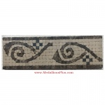 "Cole (brown), Honed Mosaic Tile Listello 4"" x 12"""