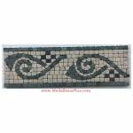 "Cole (green), Honed Mosaic Tile Listello 4"" x 12"""
