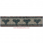 "Noal, Honed Mosaic Tile Listello 4"" x 15.75"""