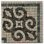 "Parker, Honed Mosaic Tile Listello Corner 6.25"" x 6.25"""