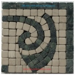 "Cole (green), Honed Mosaic Tile Listello Corner 4"" x 4"""