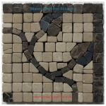 "Trenton (brown), Honed Mosaic Tile Listello Corner 4"" x 4"""