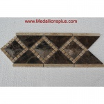 "3D Dark Emperador Polish- Tile Border 5"" x 12"""