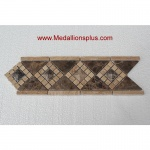 "3D Dark Emperador Polish- Tile Border 4"" x 12"""