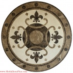 "Renaissance, 47"" Honed Waterjet Medallion"