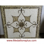 "ROMA, 34 1/8th"" Square Stone Floor Inlay"