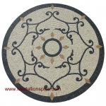 "RUBY, 36"" Mosaic Medallion - Tumbled"