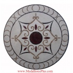 "Valletta, 36"" Waterjet Medallion"