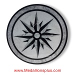 "STAR LIGHT CARRARA, 36"" Waterjet Medallion"