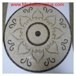 "Sunflower 36""  Mosaic Floor Medallion"
