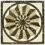 "Eden, 48"" Square Waterjet Stone Floor Inlay Polished"