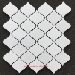 Thassos White Marble Small Polished Arabesque Mosaic Tiles