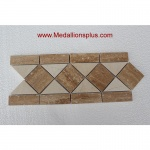 "Travertine and Marble Large - Tile Border 5"" x 12"""