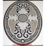 "Venetian, 36"" x 48"" Oval Mosaic Floor Medallion, Honed"