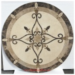 "ELEGANTE, 45"" Honed Waterjet Medallion"