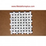 Carrara Marble Basket Weave Polished Mosaic Tiles