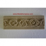 "Travertine Floral - Resin Stone Border, 4"" x 12"""