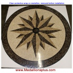 "Star Light, 36"" Polished Mosaic Floor Medallion"