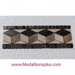 "Dark Marble Polished - Tile Border 4"" x 12"""